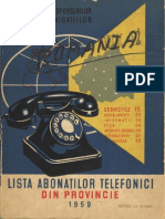 Carte Telefoane La 1959
