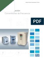 WEG Cfw 08 Convertidores de Frecuencia 1033 Catalogo Espanol