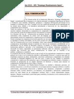 COMUNICACIÓN - INFORME TECNICO PEDAGOGICO 2013
