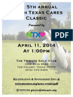 2014 North Texas Cares Classic With Transparent Logo