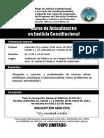 Convocatoria Curso de Actualización en Justicia Constitucional