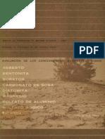 Evaluación de los conocimientos existentes sobre Asbesto, Bentonita, Boratos, Carbonato de sosa, y otros. 1968