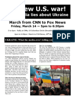 No new U.S. war! Stop media lies about Ukraine