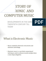 The History of Electronic and Music