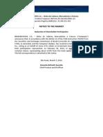 Notice to the Market - Shareholder Participation - BlackRock, Inc