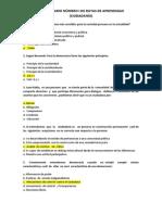CUESTIONARIO NÚMERO I DE RUTAS DE APRENDIZAJE