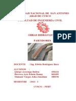 DISEÑO DE PARTIDORES (OBRAS HIDRAULICAS)