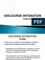 Discourse Intonation Phonetics Brazil Part i