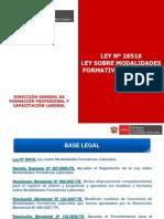 Ley MFL - Difusión