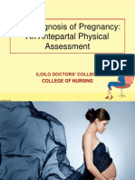 The Diagnosis of Pregnancy