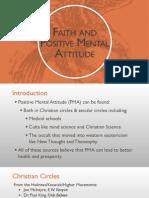 Faith and Positive Mental Attitude