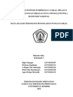 Paper Pengertian Pangan Lokal Dan Ketahanan Pangan K.7
