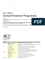 30th International Congress of Psychology South Africa 2012 Invited Speakers Programme
