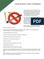 Procedimientos para dejar de Fumar y Vencer el Tabaquismo
