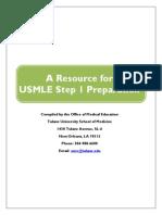 USMLE Step 1 Guide 2013 2014 Tulane