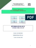 Cec 207 Theory - Hydrogeology