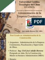 Administración de la Empresa Constructora
