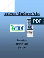 Ambassador Bridge Gateway Project
