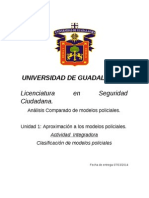 Act. Integradora Unidad 1 a. Comparado de Modelos Policiales
