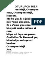 ORÍKÌ OTURUPON MEJI