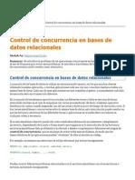 Control de Concurrencia en Bases de Datos Relacionales