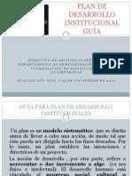 GUÍA PLAN DE DESARROLLO INSTITUCIONAL PARA ESCUELAS INCORPORADAS UG