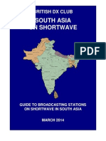 South Asia on Shortwave - By Frequency - March 2014