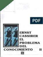 CASSIRER, Ernst - El Problema Del Conocimiento II - (1907)(FCE Mexico)