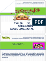 EDUCACIÓN -SENSIILIZACION AMBIENTAL Y PARTICIPACIÒN COMUITARIA
