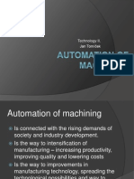 Lecture No 10 Automation of Machining