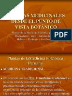 8c. PLANTAS MEDICINALES DESDE EL PUNTO DE VISTA BOTÁNICO