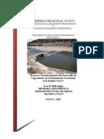 Memoria Descriptiva - Infraestructura de Riego - Region Cusco