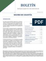 Seguro de cesantía - Boletín CAJ RM