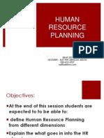 Bbap 322 Human Resource Planning