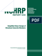 Simplified Shear Design of Concrete Members (NCHRP Report 549)
