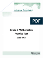 Grade 8 Mathematics Test Examples (2013)