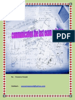 The Last Communication Exam Solution