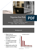 Nigerian Gas Policy