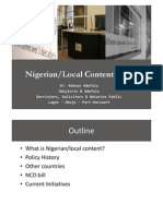 Nigerian Local Content Policy