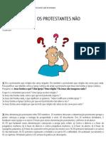 32 QUESTÕES QUE OS PROTESTANTES NÃO RESPONDEM