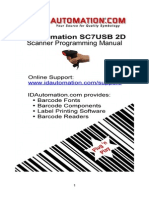 SC7 USB 2D Barcode Scanner Manual