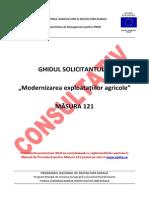 Ghidul Solicitantului Masura 121 Modernizarea exploatatiilor agricole PNDR
