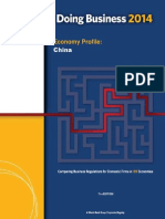 The World Bank - Doing Business - China Report - 2014
