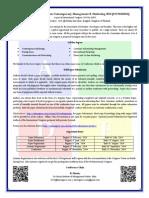 International Congress on Contemporary Management & Marketing 2014 2014 CFP