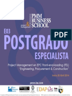 PMM-BS Postgrado Especialista E03 Project Management en EPC
