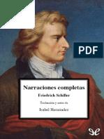 Narraciones Completas - Friedrich Schiller