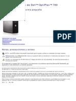 Dell OptiPlex 780 Manual Servicio