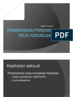 Pemeriksaan Forensik Delik Kesusilaan