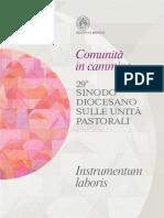 Instrumentum Laboris 29 Sinodo Diocesano