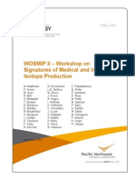 PNNL-21052WOSMIP II - Workshop on Signatures of Medical and Industrial Isotope Production Nov. 2011